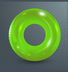 swim ring inflatable rubber toy realistic vector image