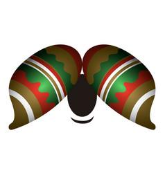 textured mustache icon vector image