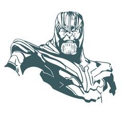 Thanos marvel avengers vector