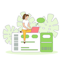Travel buy booking air ticket people filled vector