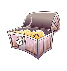 Treasure box vector