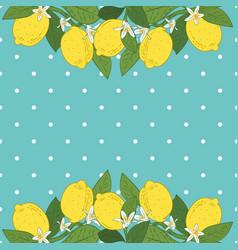 tropical citrus lemon fruits bright background vector image