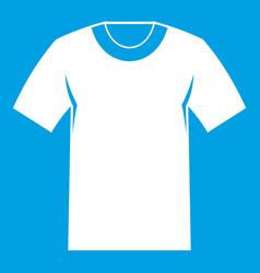 Tshirt icon white vector