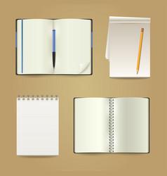 white paper memo pad set vector image