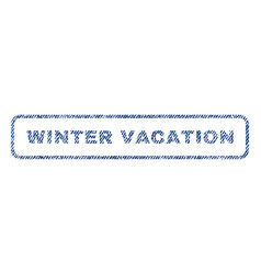 winter vacation textile stamp vector image