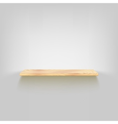 Wood shelf attached to wall vector