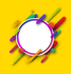 Yellow round background with geometric pattern vector