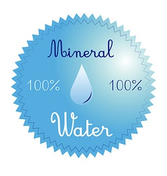 A blue icon with some text and a drop of water vector
