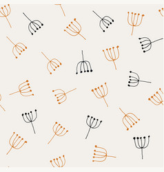 abstract hand drawn pattern vector image vector image