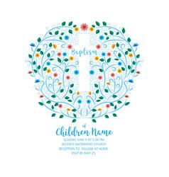 baptism christening invite - invitation template vector image