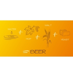 Beer components collection vector image