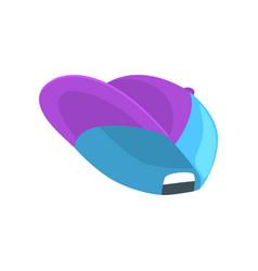 blue baseball cap cartoon vector image