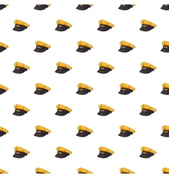 Cap taxi driver pattern cartoon style vector image vector image