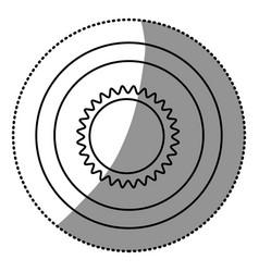 contour beautiful sun abstract icon vector image