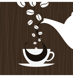 cup pour coffee vector image vector image