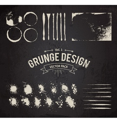 Dirty Grunge Elements Set vector image