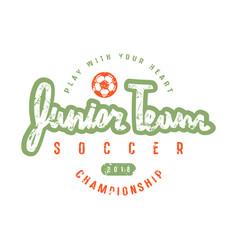 emblem of soccer junior team vector image