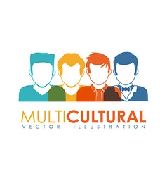 multicultural vector image vector image