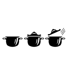 Picture of three pots vector image