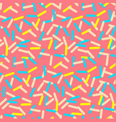 seamless pattern of pink donut glaze with many vector image vector image