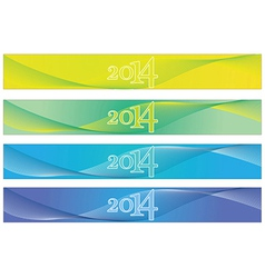 2014 Banners vector image vector image