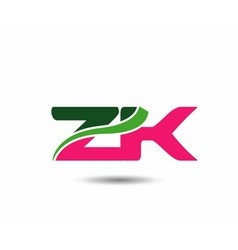 Alphabet Z and K letter logo vector image vector image