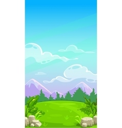 Beautiful mountain meadow landscape vector image vector image