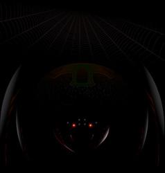dark spider vector image vector image