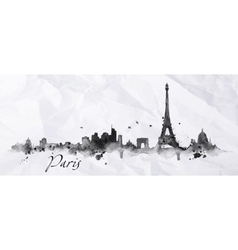 Silhouette ink Paris vector image vector image