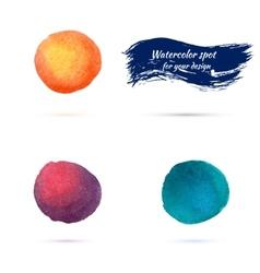 watercolor spots for design elements vector image