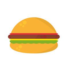 burger fast food picnic vector image