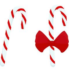 christmas candy caramel cane vector image vector image