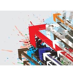 colorful arrowhead vector image
