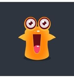 Excited yellow alien vector