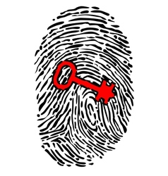 Security concept with fingerprint and key vector