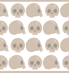 style skulls faces seamless pattern background vector image