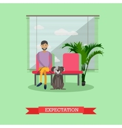 Visiting veterinarian doctor vector image