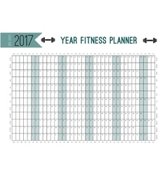 Year Wall Planner template Plan out your whole vector image