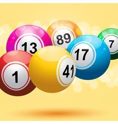 3d bingo ball background vector image
