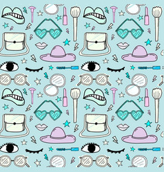 Accessories fashion seamless pattern background vector