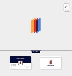accounting finance chart creative logo template vector image