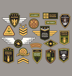 army badges military patch air force captain vector image