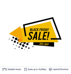 black friday sale badge geometric shapes and text vector image