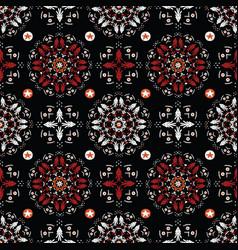 bohemian folk art christmas vector image