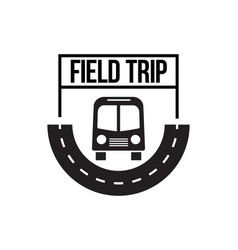 Bus trip and travel tour badge logo vector