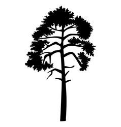 Cartoon green tree isolated at vector