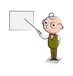 cartoon man with presentation vector image