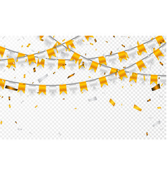 Celebration party banner golden and silver foil vector