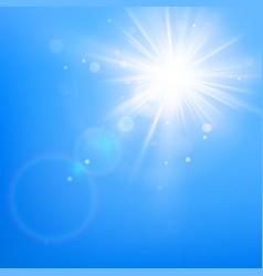 clear blue sky with sun shine eps 10 vector image