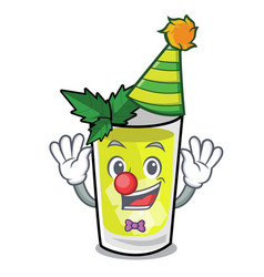 Clown mint julep mascot cartoon vector